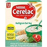Nestle Cerelac Multi Grain Dal Vegetable (300 g) -Stage 4-12 Months - Pack of 2