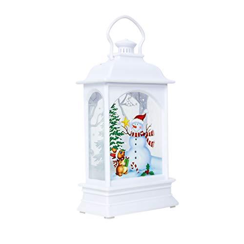 SoundJA Weihnachten Dekoration- Weihnachtsschmuck Licht Schmuck Handwerk Dekoration Anhänger Kreative Tragbare Weihnachtsbeleuchtung