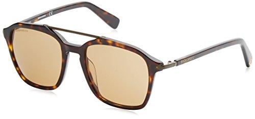 dsquared damen DSQUARED Unisex-Erwachsene Sonnenbrille DQ0245 52E 51, Braun (Avana Scura/Marrone)