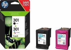 / 301, für DeskJet 2544 2X Premium Drucker-Patrone, Schwarz, Cyan, Magenta, Gelb, 1x 190, 1x 165 Seiten ()