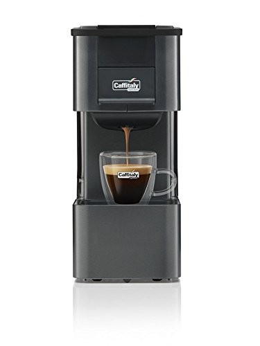 Kaffeemaschine Caffitaly Iris schwarz + gratis 60 gemischte Kapseln -