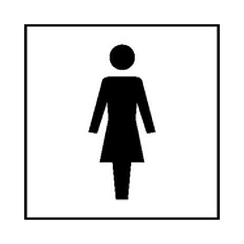 Symbolschilder - Raumkennzeichnung Graphic-Line WC D Größe: 10,0 x 10,0cm
