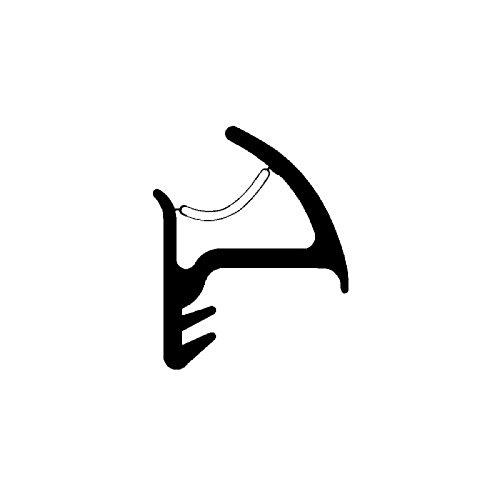 DIWARO® Stahlzargen-Dichtung SZ246 | grau | 5 lfm für Haus- und Innentüren. Zum Schallschutz und abdichten der Tür. Bestehend aus TPE (Thermoplastischen Elastomer)