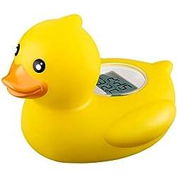 TrifyCore Termómetro para baño de bebé Safe Floating Bath Toys Termómetro de baño para Piscina y baño de Bath Tester, Cute Animal Shape (Pato Amarillo)