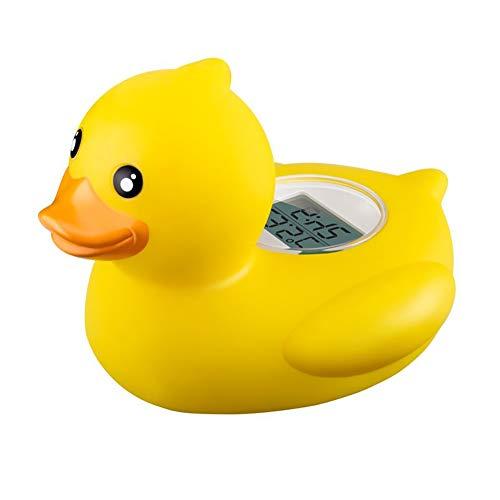 TrifyCore Niedliche Baby-Enten-Thermometer Baby-Bad Schwimmdock Ente-Spielzeug Badewanne Thermometer Wassertemperatur Tester Toy Thermometer für Baby-Baden (Gelb) - Ente Gelbe Badewanne