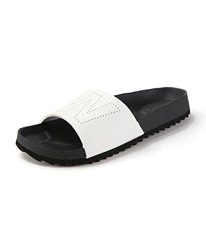 CHAOXIANG Pantofole Piatte Flip Flop EVA Toe Post Sandali Da Surf Nuovo Calzature Da Spiaggia Estiva ( Colore : Bianca , dimensioni : EU36/UK4-4.5/CN37 ) Bianca
