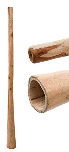 Didgeridoo aus Teakholz naturbelassen geölt Länge 150 cm schöner Gegendruck vergleichbar mit Eukalyptus aber preiswerter klarer Ton Rissstabilität Weltmusik Aborigines Australien Percussion