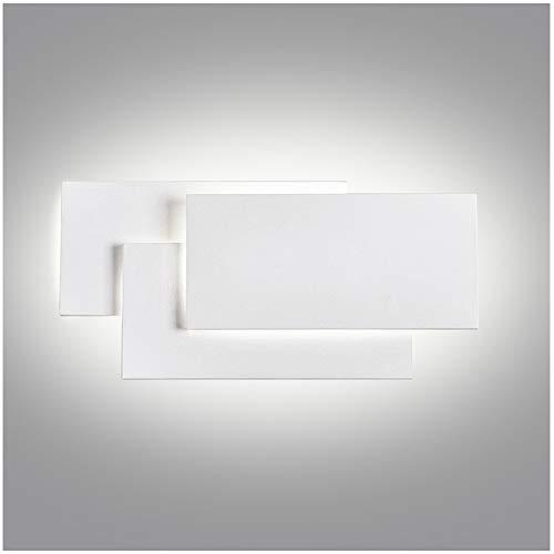 Ralbay Aplique Pared Interior LED Impermeable IP20 Aplique Espejo Baño Diseño Sencillo Moderno 24W Blanco Cálido 4000~4500K AC85-265V Decoración para Pasillo Escalera Restaurante