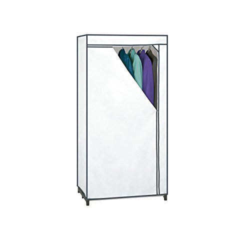 Rayen Armario de Tela Blanco 155 x 77 x 52 cm