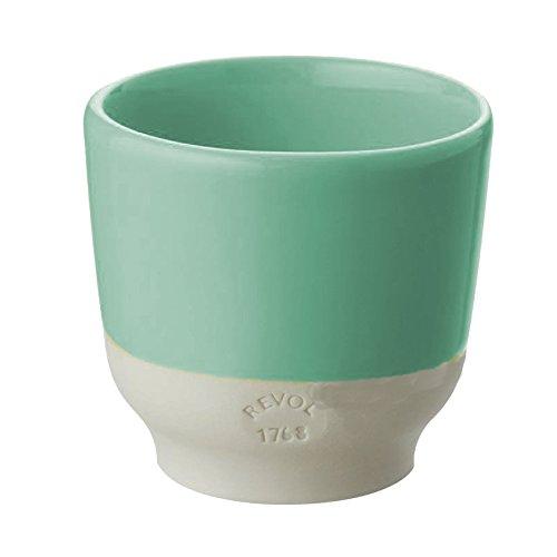 REVOL RV648892 Tasse Espresso, Porcelaine, Vert Céladon, 6,5 x 6,5 x 6 cm
