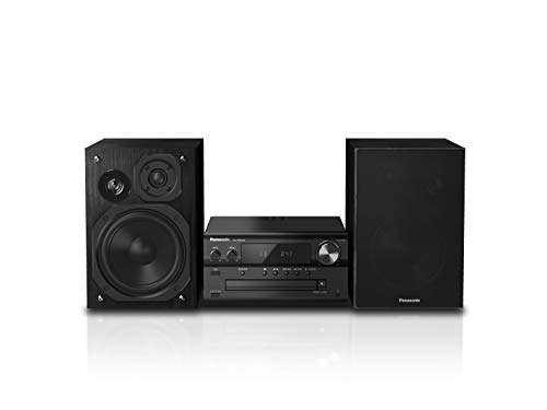 Panasonic SC-PMX94EG-K Micro HiFi System in schwarz (120 Watt RMS, Digitalradio DAB+, CD, UKW Radio, Bluetooth, USB, AUX) (Radios Panasonic)