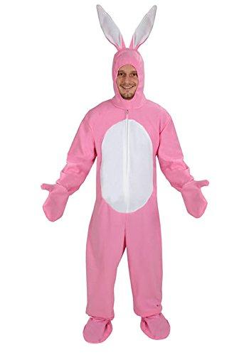 Hase rosa offen Kostüm Einheitsgrösse XXL Faschig Karneval ()