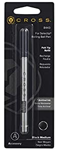 Refill for Selectip Porous Point Pens, Medium, Black Ink, Sold as 1 Each