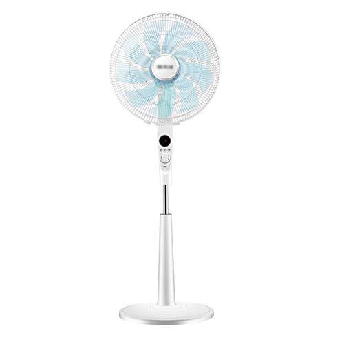 ZZHFS Lüfter Standventilator, 3-Fach | 60W | Fernbedienung | Timing | Oszillierend | Höhenverstellbar | für Home Office Summer Cooling - Weiß
