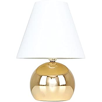 Modern Gold Touch Dimmer Bedside Table Lamp With Cream