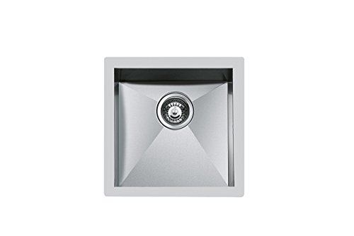 Square Flush Mount (Foster Quadra.1 V.40 X 40.FT Square Stainless Steel Flush-mount Sink – Kitchen Sinks (Flush-mount Kitchen Sink, Square, Stainless Steel, Stainless Steel, Square, 400 x 400 mm))