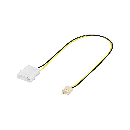 Wentronic 93627 Lüfter Adapterkabel (3-polig Stecker auf 4-polig Stecker) weiß Mehrfarbig