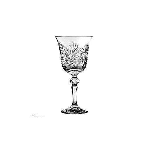 Weinkelch, Weinglas SCHLEUDERSTERN 220ml, transparent, handgeschliffen, Bleikristall Glas, moderner...