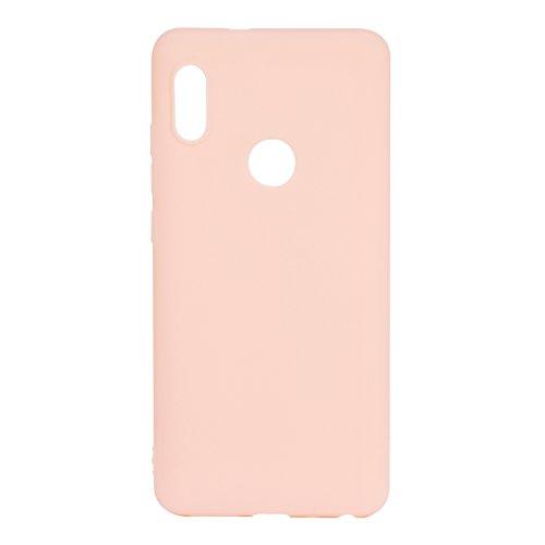 cuzz Funda para Xiaomi Redmi Note 6 Pro+{Protector de Pantalla de Vidre Temperat} Carcasa Silicona Suave Gel Rasguño y Resistente Teléfono Móvil Cover-Rosa Claro
