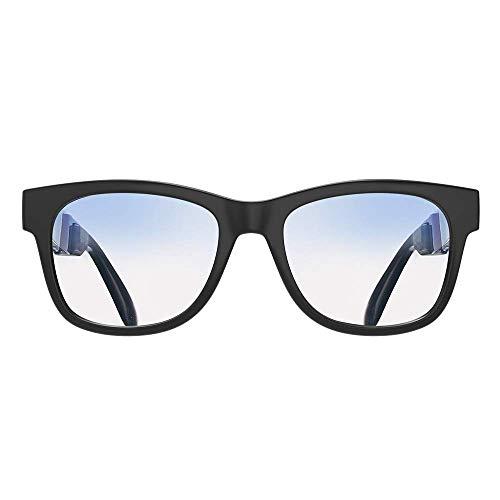 Occhiali a conduzione ossea cuffie sportive occhiali da sole polarizzati auricolari musica mani libera occhiali da sole impermeabile con microfono a cancellazione del rumore-aggiornamento nero opaco