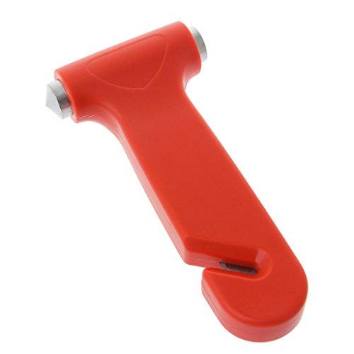 JOYKK 2 In 1 Car Emergency Safety Escape Hammer Glas Fensterheber Werkzeug - Orange