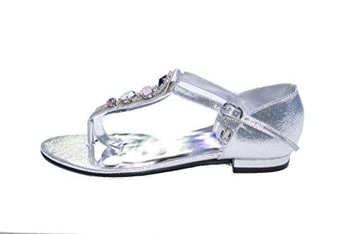 Wear & Walk UK , Sandales pour femme Argent - argent
