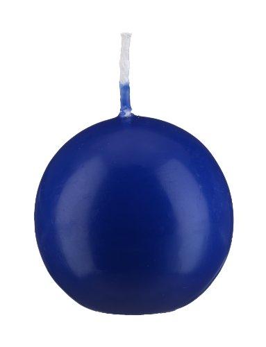 Bougie boule Bleu Royal 10 cm, 4 Bougies, Bougie Ronde