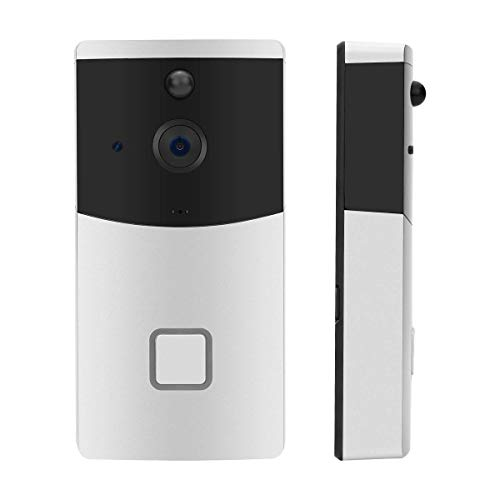 Xelparuc - campanello senza fili con videocamera hd 720p, visione notturna, sensore di movimento, compatibile con ios/android smartphone app control (due batterie ricaricabili, cavo usb)