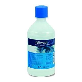 AP Automotive Sterile Augenwaschlösung in Flaschen 500 ml, Sicherheit für Werkstatt / Schweißen, 2Stück