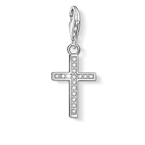 THOMAS SABO Damen Charm-Anhänger Kreuz Charm Club 925 Sterling Silber 0049-051-14