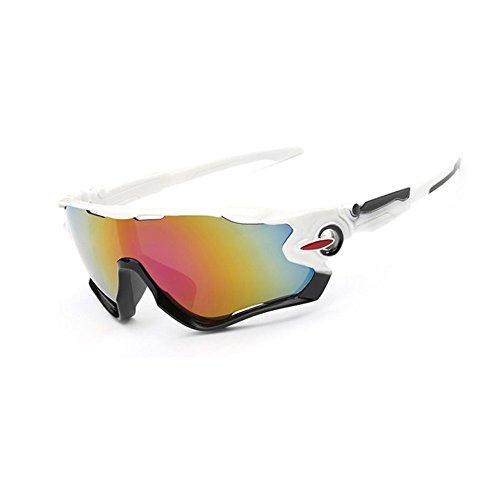 SMARTLADY UV400 Gafas de Sol para Al aire libre/Deportes/Ciclismo Para Hombre y Mujer (Blanco)