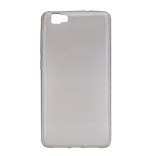 Prevoa ® 丨Transparent Silikon TPU Case Schutzhülle Tasche für CUBOT X15 5,5 Zoll FHD Android 5.1 4G Smartphone - (Grau)