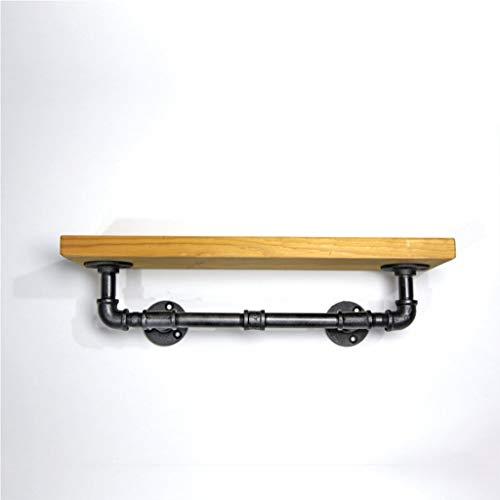 ohr Wohnzimmer Lagerregal - multifunktionale Industrie Wandbehang dekorative Rack - Single-Layer Retro kreative Holz Regal Handtuchhalter 40cm * 15cm (15