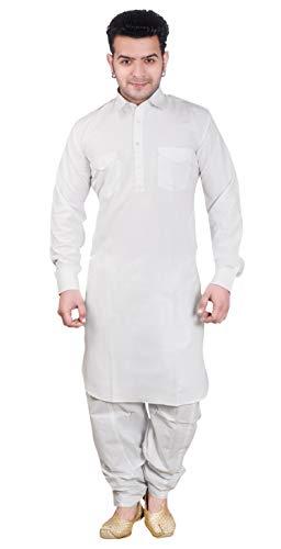 Desi Sarees Herren Hemdkragen Pathani Kurta Salwar Kameez 1854 (S (Brust - 36 Zoll), ()