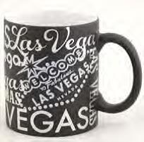 Las Vegas Kaffee Tasse schwarz Folie Typografie Stil 313ml WOW. 74883 (Las Vegas Cup)