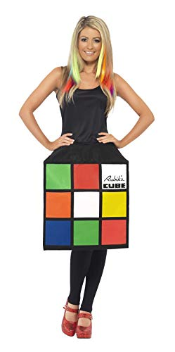 Smiffys Damen Zauberwürfel Kostüm, 3D-Würfel-Kleid, Größe: M,