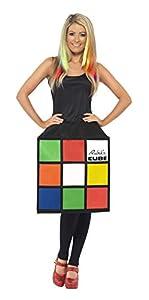 Smiffys-39170S Licenciado Oficialmente Disfraz del Rubik