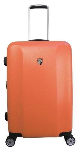 ... 50% SALE ... PREMIUM DESIGNER Hartschalen Koffer - Heys Core Quad Orange - Trolley mit 4 Rollen Medium Orange