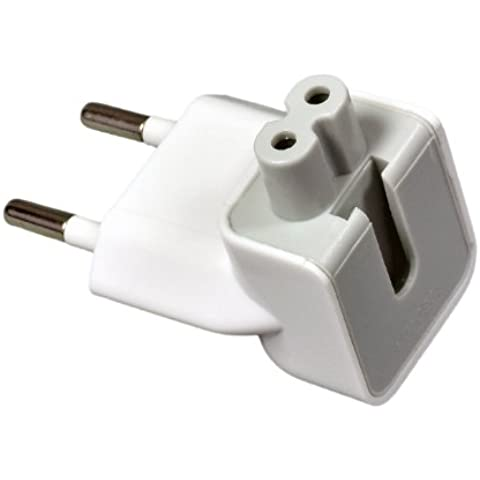 e-port24® EU AC plug Apple ENCHUFE ADAPTADOR CARGADOR Duckhead 2 Pin Power Plug Adapter para Apple Macbook iPhone iPod iPad Mac