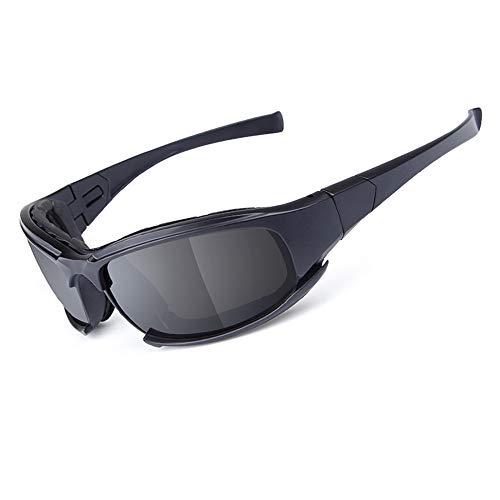 Motorrad-Reitbrille - 3 Wechselobjektive - Sport-Sonnenbrillen - Anti-Wind & Staub - PC-Objektiv (Gelb, Rauch, Klar) -