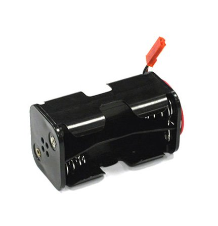 Integy RC Model Hop-ups C23357 Battery Box x 4 Cells, AA Size for Charging, RX, LED & Cooling Fan Rc Axial Honcho Batterie