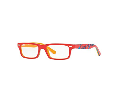 New Frames Eyeglasses Ray Ban RB 1535 3599 Kids Red, Orange, Blue Square