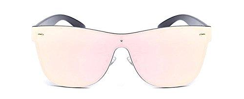 Memoryee Rimless Wayfarer Sunglasses for Women and Men Futuristic Shield Mirrored One Piece Design Mirror