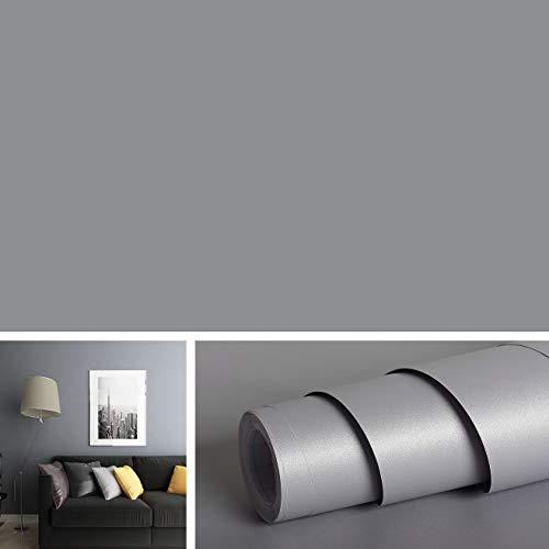 Livelynine 40,6 x 197 cm graues Kontaktpapier Dekorative für Arbeitsplatten abziehen und aufkleben, abnehmbare graue Regaleinsätze für Küchenschränke leicht zu reinigen - Graue Winter-wrap