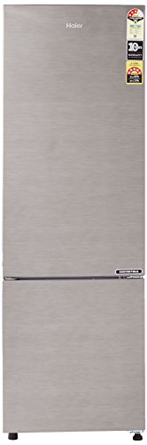 Haier 276 L 3 Star Frost Free Double Door Refrigerator(HEB-27TDS, Dazzle Steel/Brushline silver, Convertible, Bottom Freezer)
