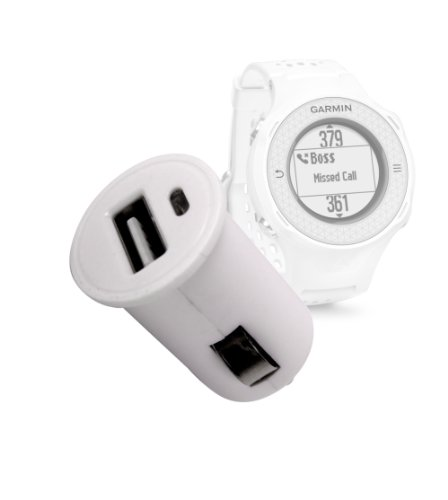 DURAGADGET 1 amp presa accendisigari in caricabatterie per Garmin Approach S2/S3/S4