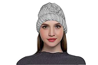6903841915e65 MAGIC Women s Winter Warm Knit Hat Wool Snow Ski Caps (Grey)  Amazon ...
