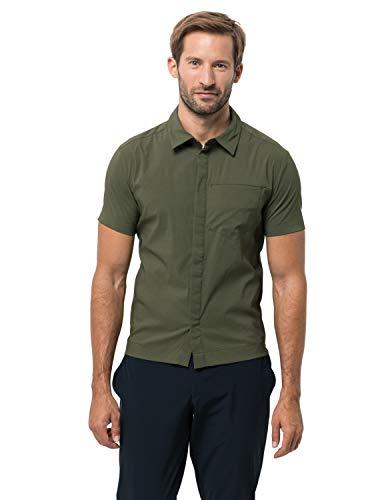 Jack Wolfskin Herren JWP Shirt Hemd, Woodland Green, XL (Green Mountain-kamera)