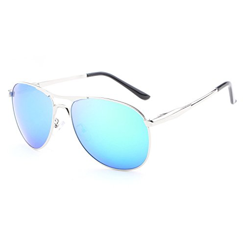 Männer, Sonnenbrillen, Mode, Freizeit, Outdoor, polarisiertes hellblau, E00112