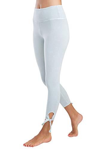 Jersey Yoga Capri Pant (Jala Damen Tie Capri Caprihose, graugrün, Large)